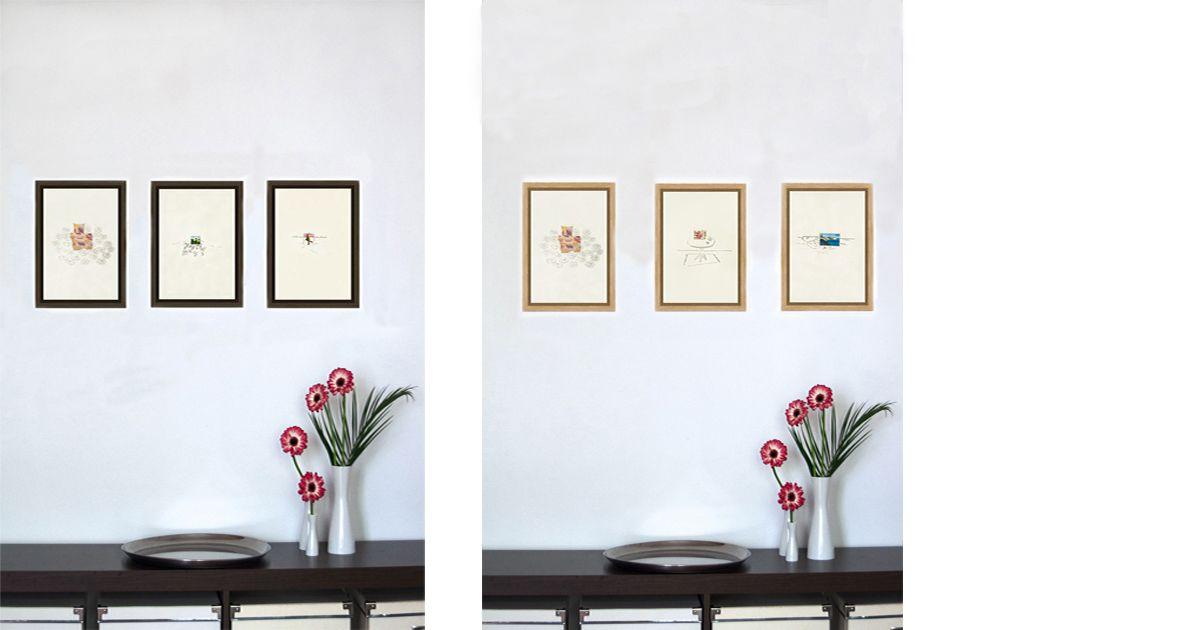 Authentische & kraftvolle Bilder | garego Artprints | Kunst online kaufen | 3 Motive | Schattenfugenrahmen | Erle braun | Eiche natur|30 x 20 cm|Jutta Konjer