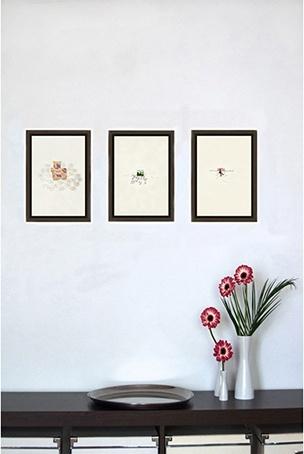 Authentische & kraftvolle Bilder | garego Artprints | Kunst online kaufen | 3 Motive | Schattenfugenrahmen | Erle braun | 30 x 20 cm|Jutta Konjer