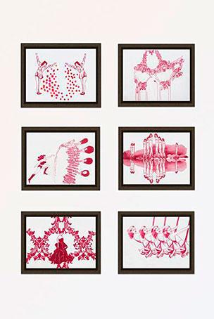 garego Artprints|Kunst online kaufen|6 Motive|Alu-Dibond|Schattenfugenrahmen Erle braun|Gabriela Goronzy|